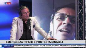 19LIVE   EMERGENZA RIFIUTI E PROTESTA FAMIGLIE ALUNNI DISABILI con l'on. Vincenzo Figuccia