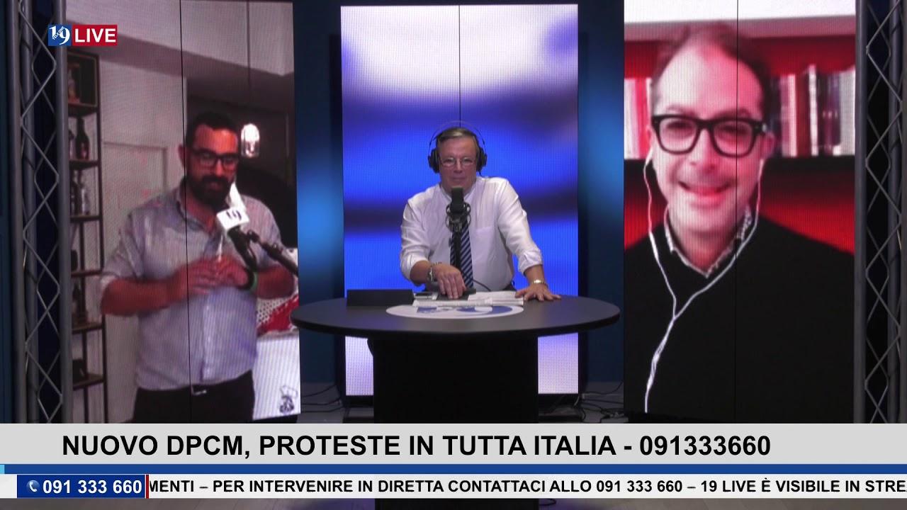 19LIVE  NUOVO DPCM, PROTESTE IN TUTTA ITALIA CON  GIUSEPPE PROVENZA E ALESSANDRO AZZIMATI