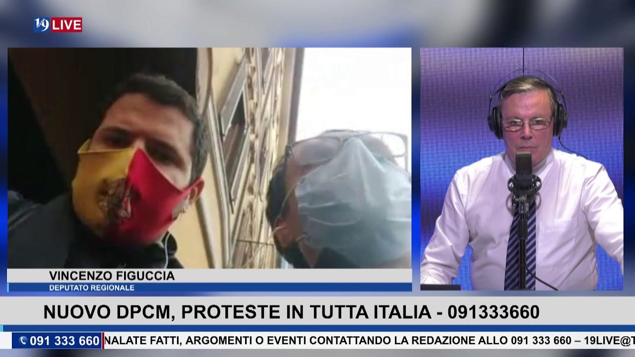 19LIVE  NUOVO DPCM, PROTESTE IN TUTTA ITALIA CON L' ONOREVOLE VINCENZO FIGUCCIA