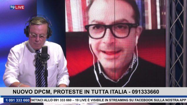 19LIVE  NUOVO DPCM, PROTESTE IN TUTTA ITALIA CON V. DI MARIA, G. PROVENZA E G. MANGANO