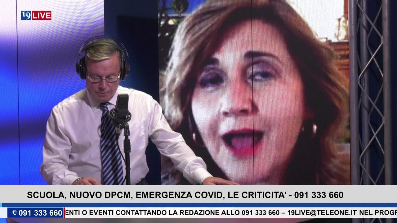 19LIVE – SCUOLA, NUOVO DCPM, EMERGENZA COVID , LE CRITICITA'