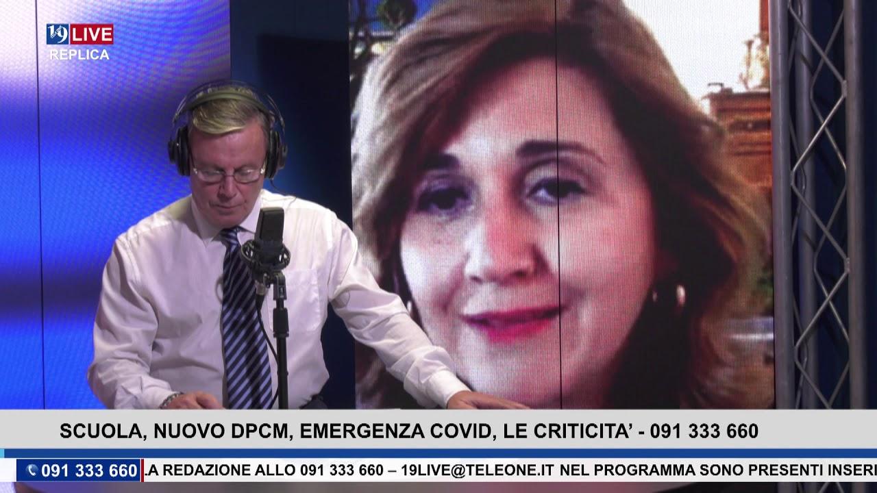 19LIVE TRASMISSIONE DI GIOVEDI 22 OTTOBRE 2020