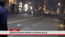 Catania. Manifestazioni contro il Dpcm in Sicilia