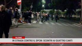 Contro le restrizioni, fumogeni, bombe carta e petardi a Palermo
