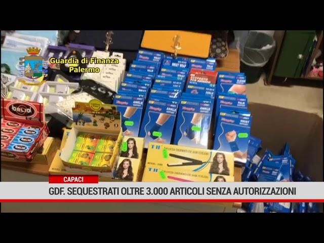 GdF. Sequestrati a Carini prodotti senza autorizzazione