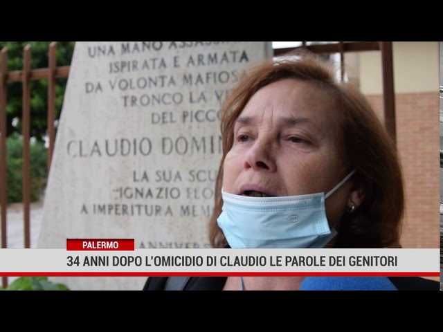 Palermo. 34 anni dopo l'omicidio di Claudio Domino, le parole dei genitori