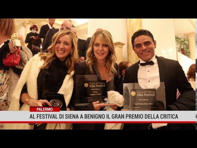 Palermo. Al festival di Siena a Benigno il gran premio della critica