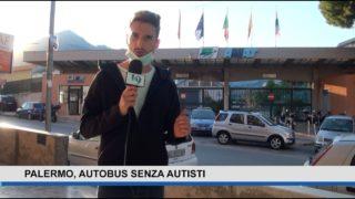 Palermo, autobus senza autisti – con l'ass. Giusto Catania e il presidente di Amat Michele Cimino