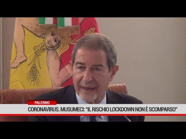 """Palermo. Coronavirus: Musumeci """"Il rischio lockdown non è scomparso"""""""
