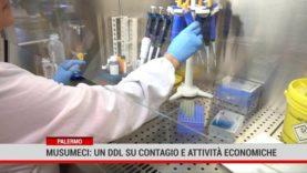 Palermo. Musumeci: un ddl su contagio e attività economiche