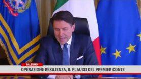 Palermo. Operazione Resilienza, il plauso del premier Conte