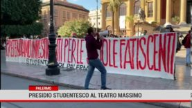 Palermo. Presidio studentesco al Teatro Massimo
