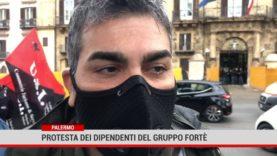 Palermo. Protesta dei dipendenti del gruppo Fortè