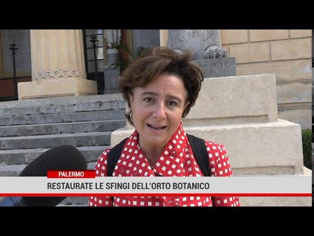 Palermo. Restaurate le sfingi dell'Orto Botanico