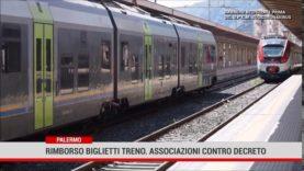Palermo. Rimborso biglietti treno. Associazioni contro decreto