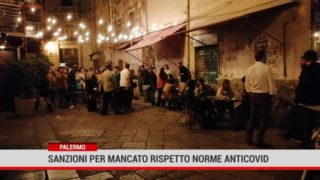 Palermo. Sanzioni per mancato rispetto norme anti covid