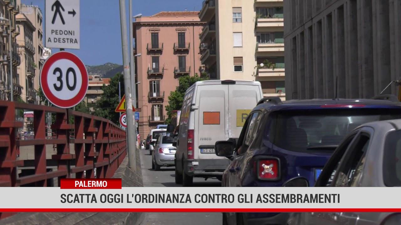 Palermo. Scatta oggi l'ordinanza contro gli assembramenti