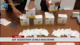 Palermo: sequestrate 28 mila mascherine