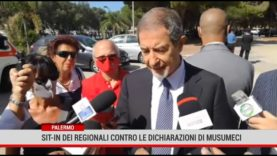 Palermo. Sit- in dei regionali contro le dichiarazioni di Musumeci