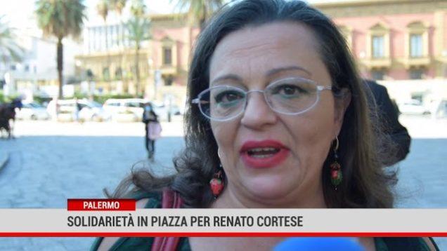 Palermo. Solidarietà in piazza per Renato Cortese