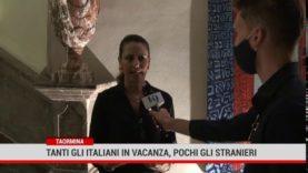 Taormina. Tanti gli italiani in vacanza, pochi gli stranieri