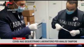 Trapani. Covid: Nas sequestrano laboratorio per analisi tamponi
