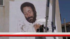 Villabate. Il murales dedicato a Falcone e Borsellino