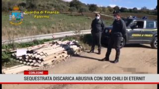 Corleone. Sequestrata discarica abusiva con 300 chili di eternit