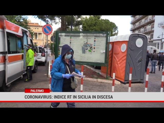 Coronavirus: indice RT in Sicilia in discesa