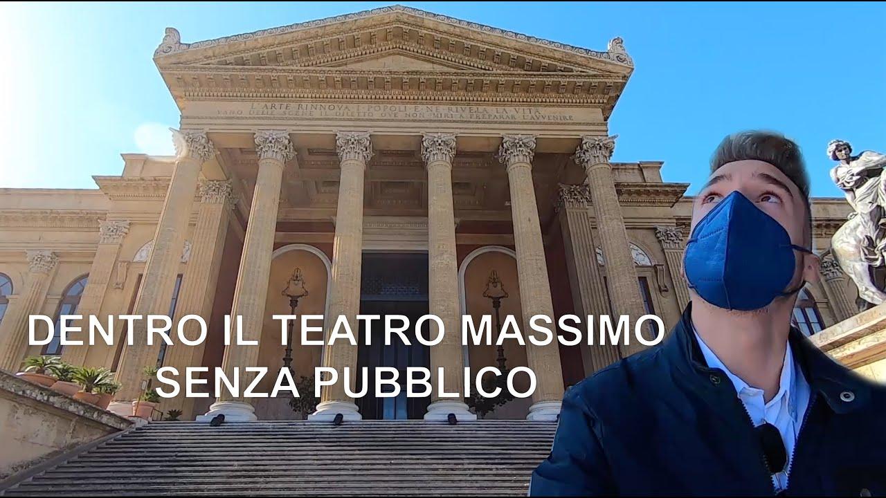 Dentro il Teatro Massimo di Palermo, tra i più grandi d' Europa!