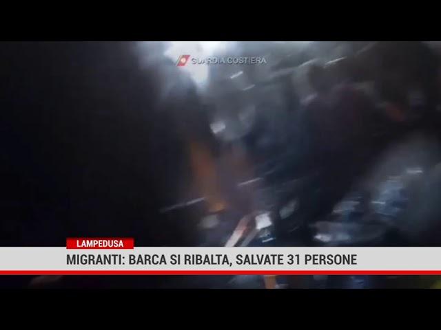 Lampedusa. Barca si ribalta, salvate 31 persone