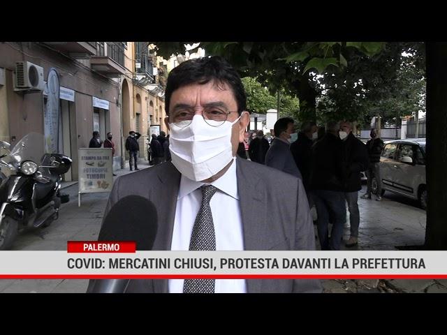 Palermo. Covid, mercatini chiusi. Protesta davanti la Prefettura