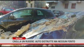 Palermo. Crolla un rudere in zona Notarbartolo: auto distrutte ma nessun ferito