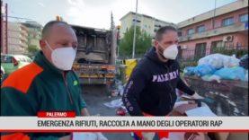 Palermo. Emergenza rifiuti, raccolta a mano degli operatori Rap
