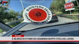Palermo. Il bilancio di ottobre dei controlli Carabinieri Gruppo Tutela del Lavoro