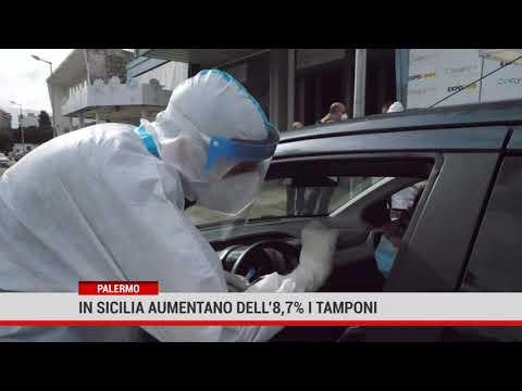 Palermo. In Sicilia aumentano dell'8,7% i tamponi