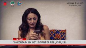 """Palermo."""" La Forza di un NO"""" lo spot di Cgil Cisl Uil contro la violenza sulle donne"""