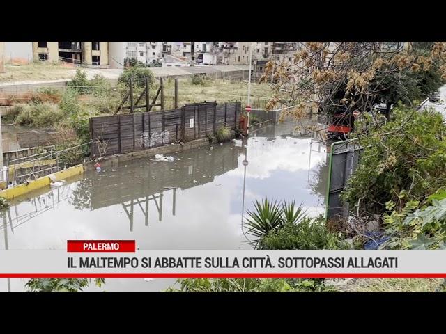 Palermo. La pioggia causa allagamenti, disagi in tutta la città