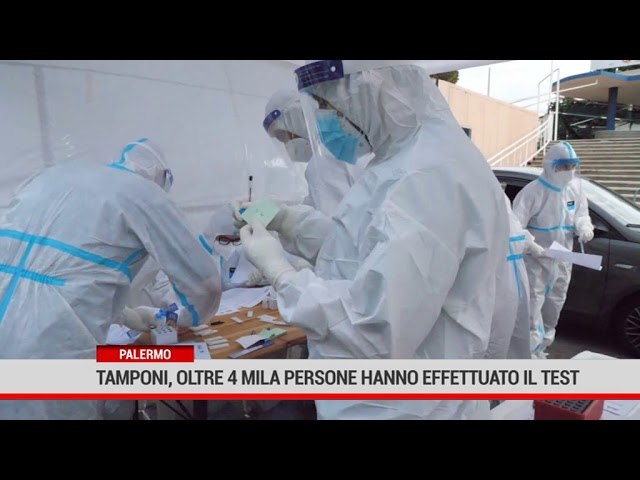 Palermo. Tamponi: oltre 4mila persone hanno effettuato il test