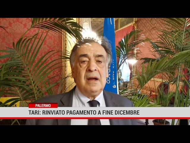 Palermo. Tari: rinviato pagamento a fine dicembre