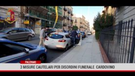 Palermo. Tre misure cautelari per disordini funerale Cardovino