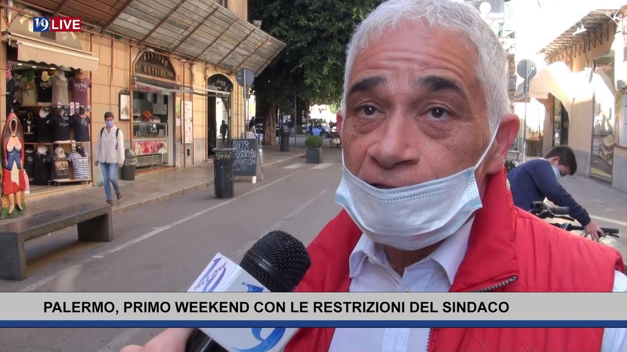 Primo weekend a Palermo con le restrizioni del sindaco Orlando contro lo stazionamento in centro.