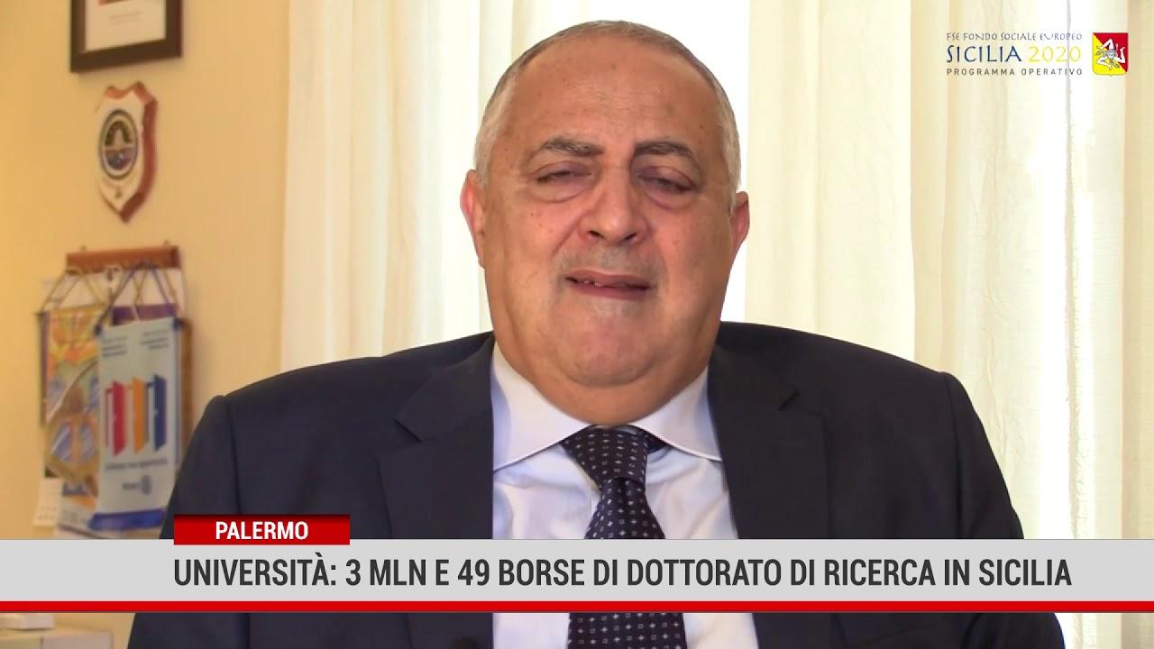 Università: 3 mln e 49 borse di dottorato di ricerca in Sicilia