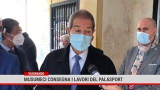 """Viagrande. Consegnati i lavori di ristrutturazione del palasport """"Giuseppe Coco"""""""