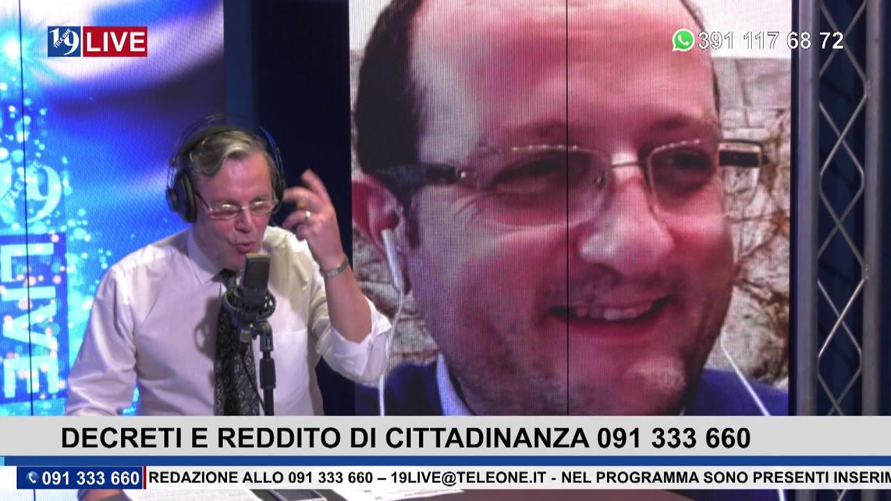 19LIVE DECRETI E REDDITO DI CITTADINANZA, con Dr. Vincenzo Prestigiacomo CAF FENAPI Patronato INAPI