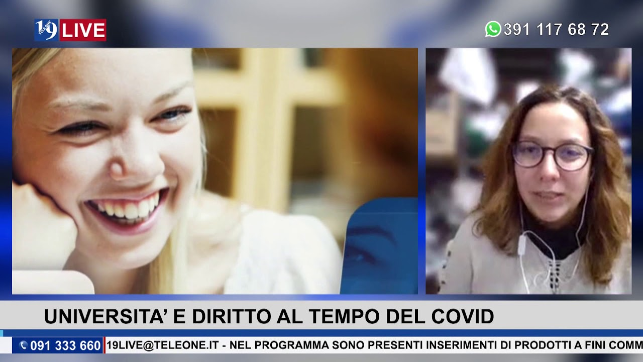 19LIVE  UNIVERSITA E DIRITTO AL TEMPO DEL COVID   UNIVERSITA', DAD E ALTRE CRITICITA'