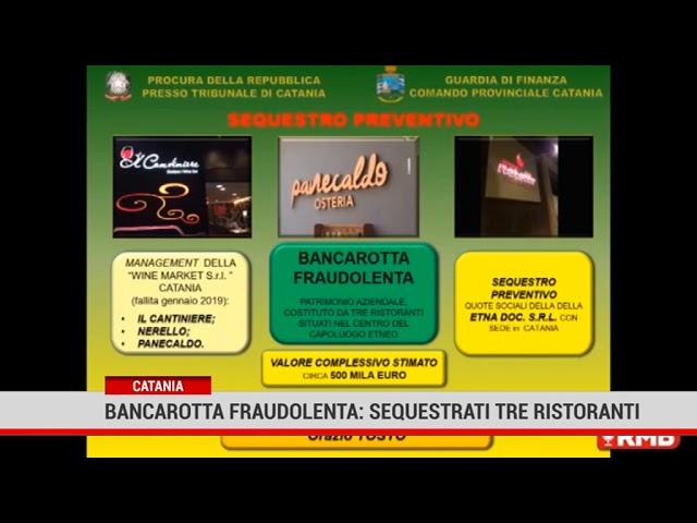 Catania. Bancarotta fraudolenta: sequestrati tre ristoranti