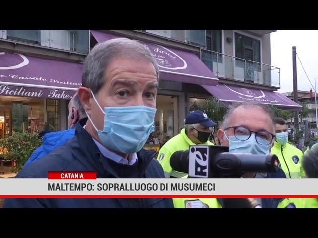 Catania. Maltempo: sopralluogo di Musumeci