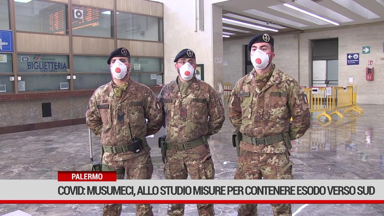 Covid: Musumeci, allo studio misure per contenere esodo verso Sud