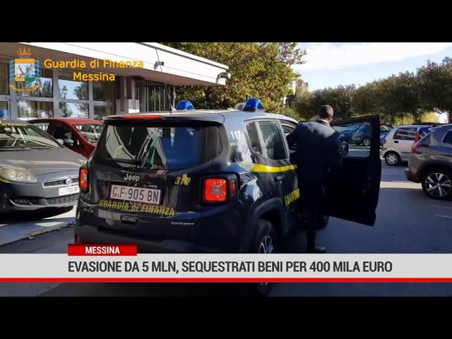 Messina. Evasione da 5 milioni,  sequestrati beni per 400 mila euro